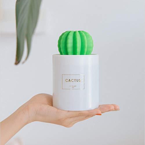 Umidificatore piccolo umidificatore a forma di cactus leggero a forma di umidificatore per desktop Mini umidificatore con cavo dati USB. Umidificatore luci a LED. Olio Diffuser.Mist Umidificatore