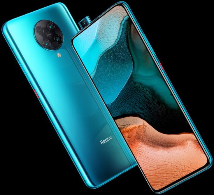 Design dello smartphone Redmi K30 Pro